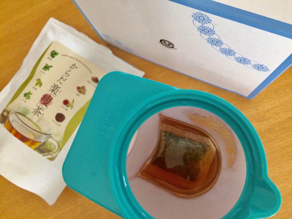 からだ楽痩茶を500ml作ってみたところ2
